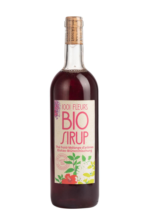 Bio Sirup Ice Tea Blütenmischung | sirop thé froid mélange d'arômes bio 7.5dl