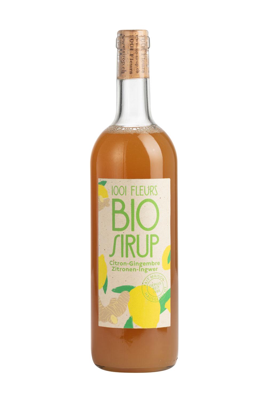 Bio Sirup Zitronen-Ingwer   sirop citron-gingembre bio 7.5dl